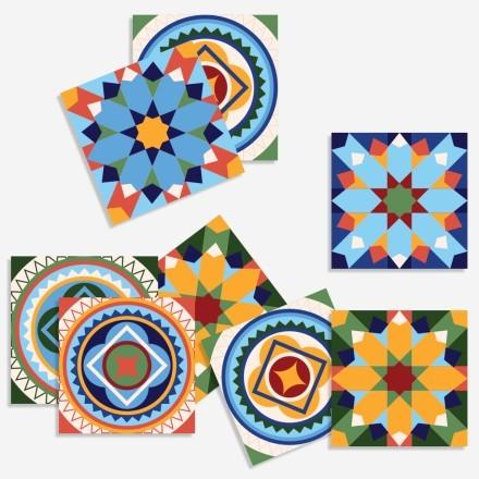Vintage mandala μοτίβο (8 τεμάχια)