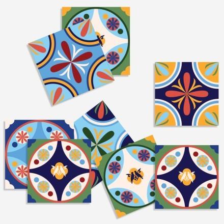 Vintage azulejos μοτίβο (8 τεμάχια)