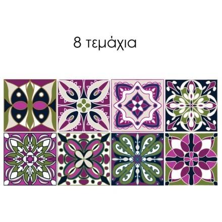 Floral τούρκικο μοτίβο (8 τεμάχια)