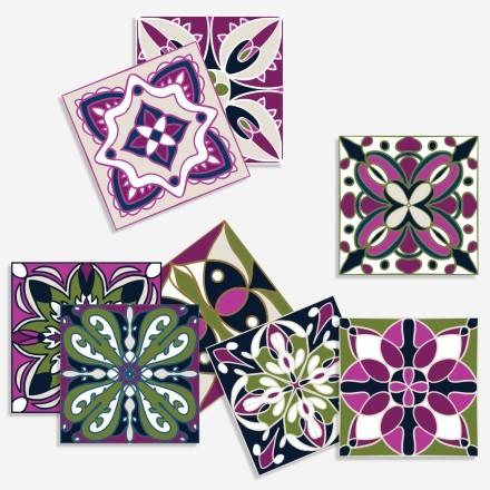 Πολύχρωμο contrast retro μοτίβο (8 τεμάχια)