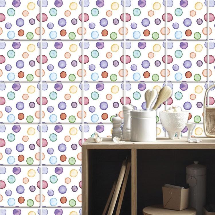 Αυτοκόλλητο πλακάκι τοίχου Μοντέρνο μοτίβο (6 Τεμάχια)