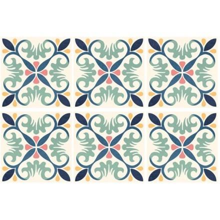 Κλασικό μοτίβο μπλε (6 Τεμάχια)