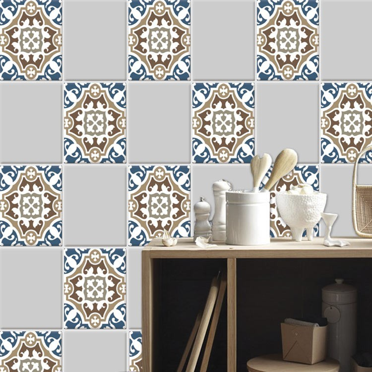 Αυτοκόλλητο πλακάκι τοίχου Κλασικό μοτίβο (6 τεμάχια)