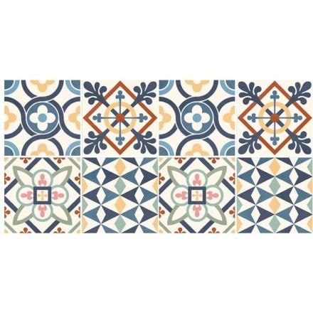 Διάφορα μοτίβα μπλε πορτοκαλί (8 Τεμάχια)