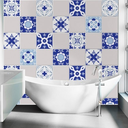 Μεξικάνικα μοτίβο μπλε (6 τεμάχια)