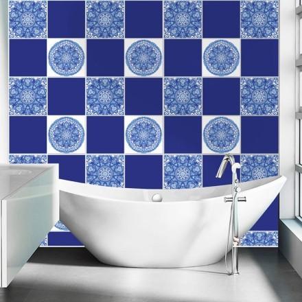 Μπλε πορτογαλικό μοτίβο (8 τεμάχια)