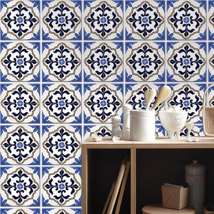 Αυτοκόλλητο Πλακάκι Μπλε πορτογαλικό μοτίβο (6 τεμάχια)
