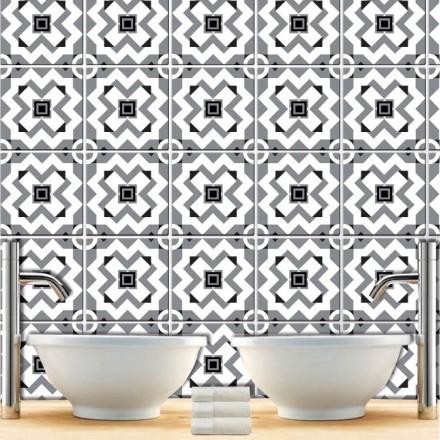 Μοτίβο άσπρο μαύρο γκρι (8 Τεμάχια)