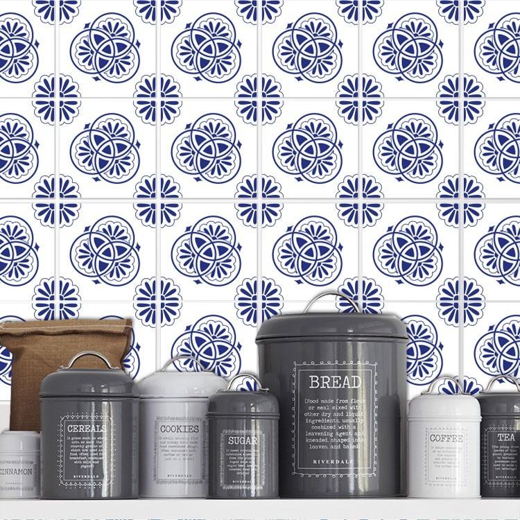 Μαροκινό μοτίβο μπλε (8 Τεμάχια)