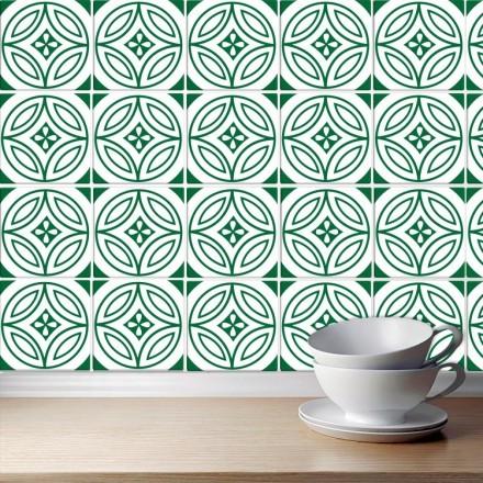 Πορτογαλικό μοτίβο πράσινο (8 Τεμάχια)