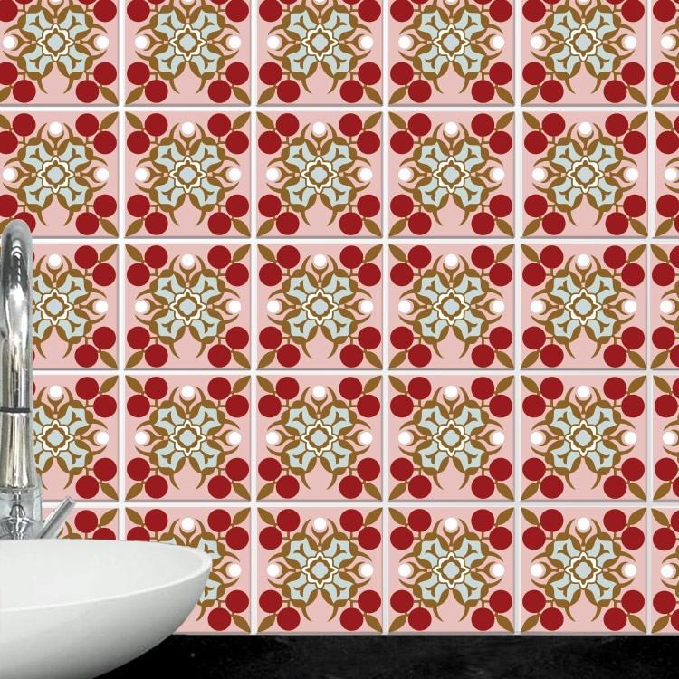 Αυτοκόλλητο πλακάκι τοίχου Μαροκινό μοτίβο (6 Τεμάχια)