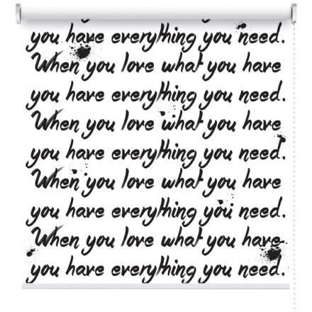 Υou have everything