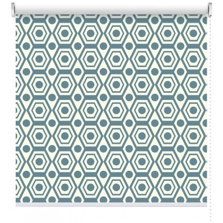Μπλε Ρετρό μοτίβο