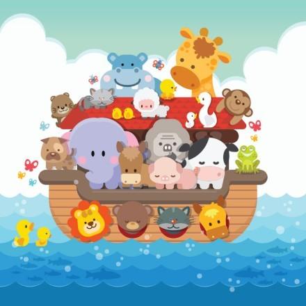 Ζωάκια Πάνω Στην Βάρκα