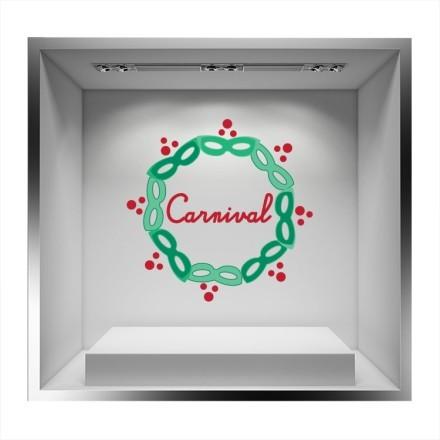 Κύκλος από πράσινες μάσκες και μέσα ''Carnival''