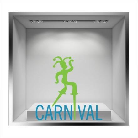 Μπλε Carnival με πράσινη φιγούρα