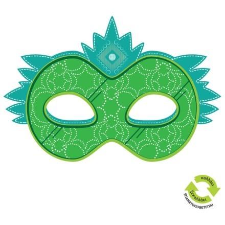 Μάσκα πράσινη με σχέδια