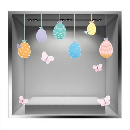 Κρεμαστά Πασχαλινά Αυγά και Πεταλούδες