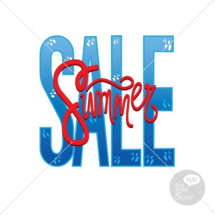 Summer Sale μπλε- κόκκινο