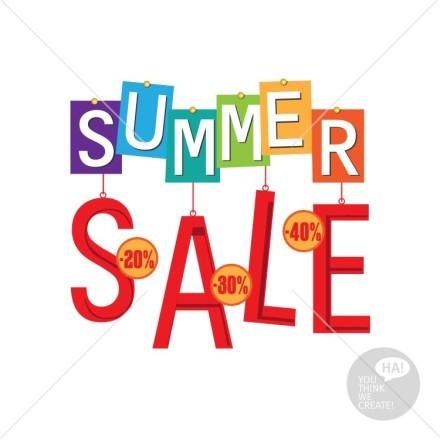 Summer sale πολύχρωμα τετράγωνα