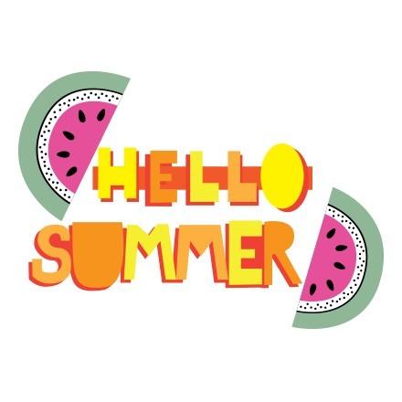 Hello Summer κίτρινο πορτοκαλί με καρπούζια