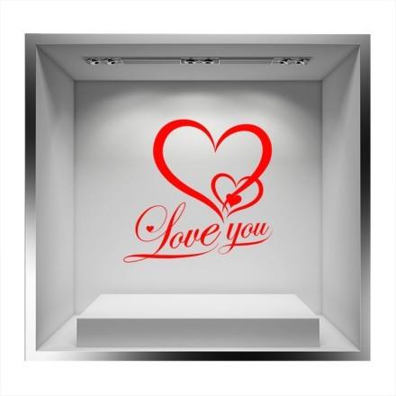 Love you κόκκινη καρδιά