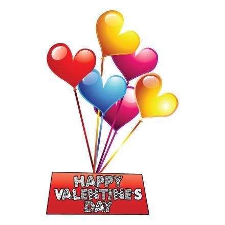 Ημέρα Αγίου Βαλεντίνου Καρδιές μπαλόνια
