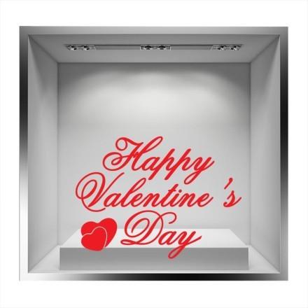 Happy Valentines Day κόκκινα γράμματα