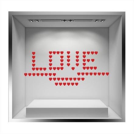 Καρδούλες που σχηματίζουν LOVE
