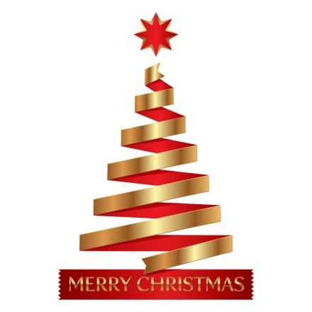 Merry Christmas - Gold-Red