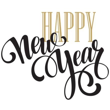 Happy New Years Gold-Black