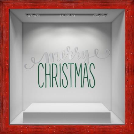 Merry Christmas White-Green