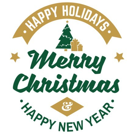 Happy New Year Green-Gold