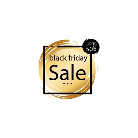 Gold Circle Black Friday