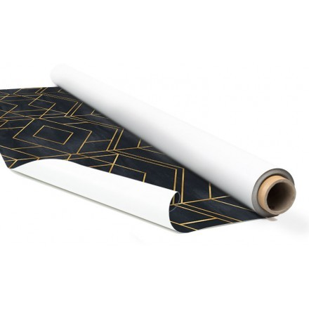 Χρυσά γεωμετρικά σχήματα στο μαύρο φόντο
