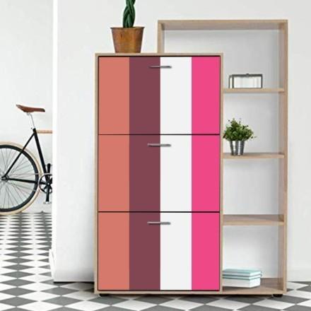 Κεραμιδί, ροζ, λευκό