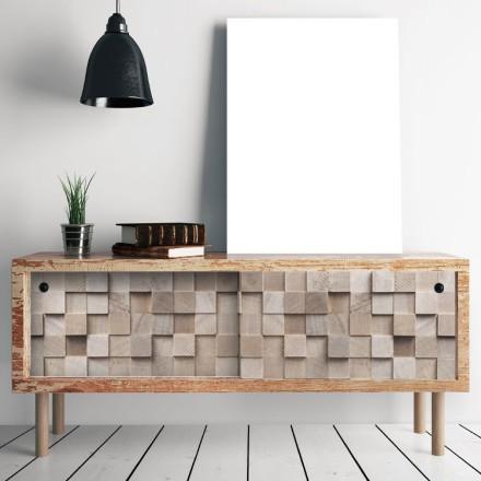 Τετράγωνο ξύλινο μοτίβο