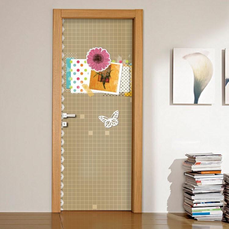 Αυτοκόλλητο Πόρτας Πεταλούδα και καρτ-ποστάλ