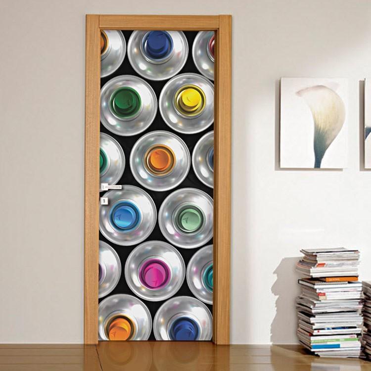 Αυτοκόλλητο Πόρτας Χρώματα
