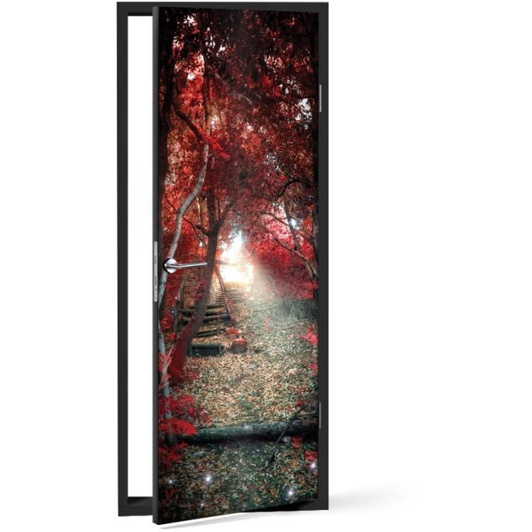 Αυτοκόλλητο Πόρτας Κόκκινο μονοπάτι