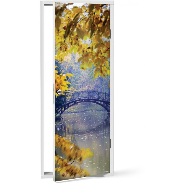 Αυτοκόλλητο Πόρτας Γέφυρα στη φύση