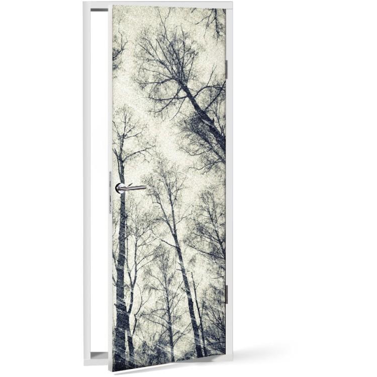 Αυτοκόλλητο Πόρτας Φθινοπωρινό Δάσος