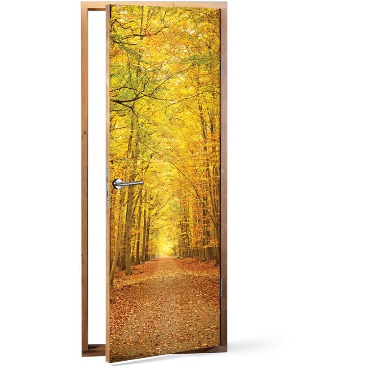 Αυτοκόλλητο Πόρτας Κίτρινο Δάσος