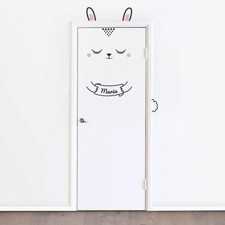 Αυτοκόλλητο Πόρτας Bunny (your name)