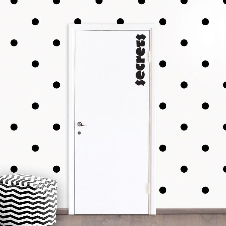 Αυτοκόλλητο Πόρτας Secrets