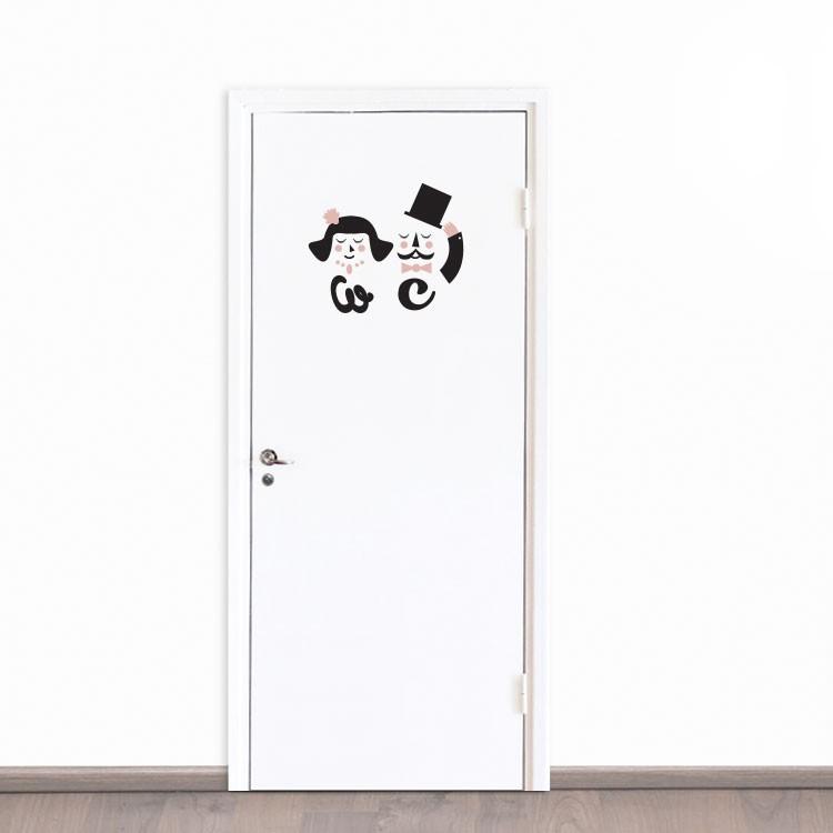 Αυτοκόλλητο Πόρτας WC