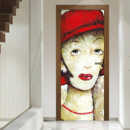 Κυρία με κόκκινο καπέλο