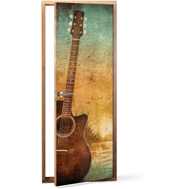 Αυτοκόλλητο Πόρτας Μία κιθάρα