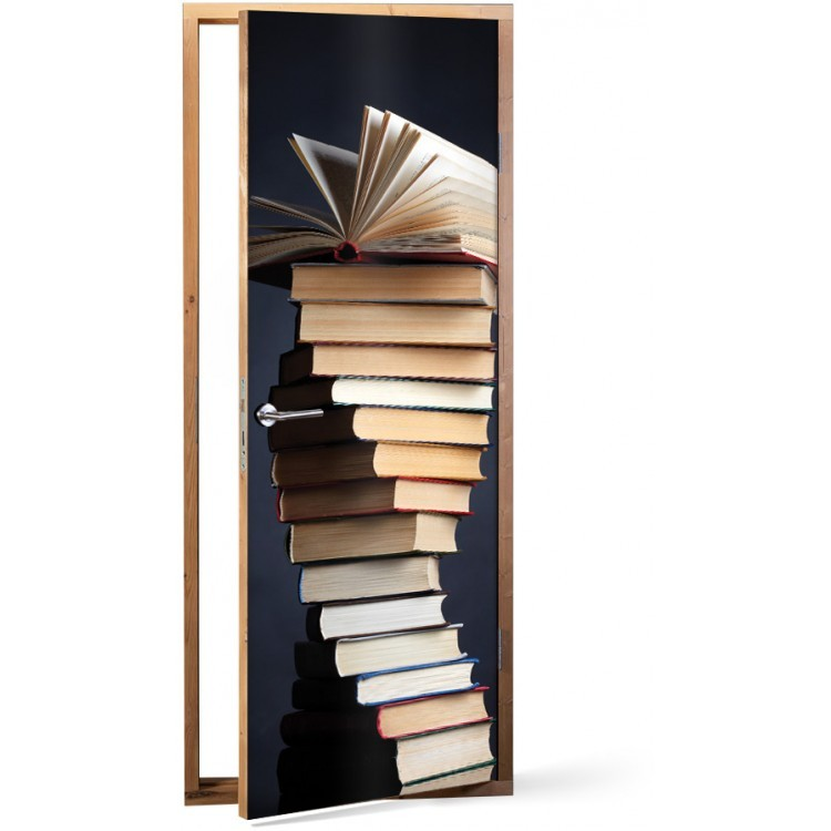 Αυτοκόλλητο Πόρτας Books