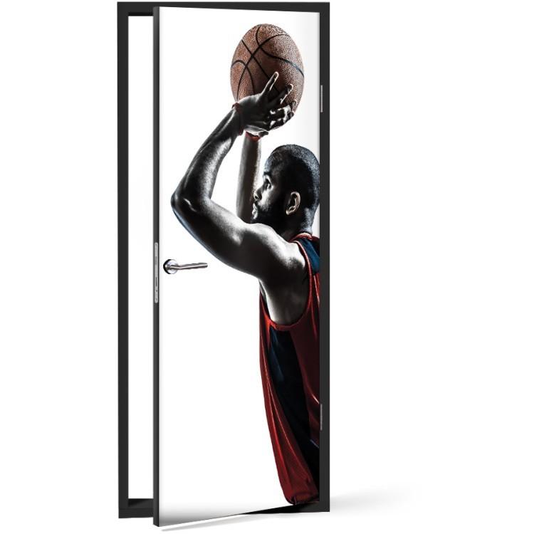 Αυτοκόλλητο Πόρτας Μπασκετμπολίστας
